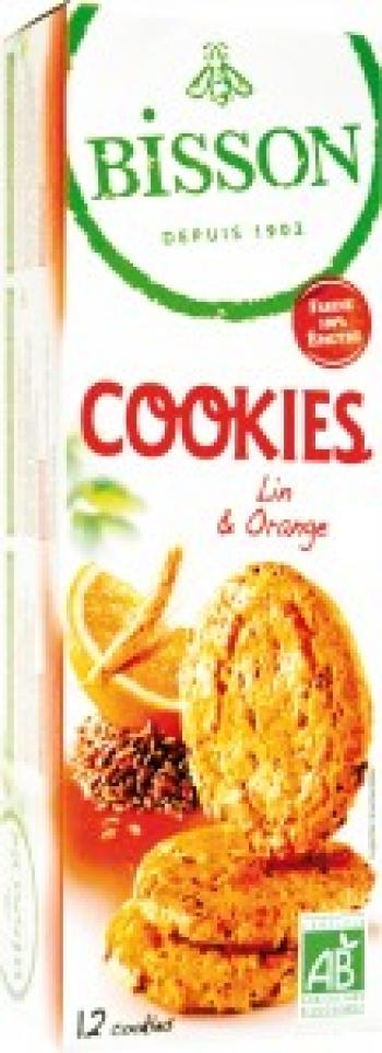 Бисквити с лен и портокал Бизон
