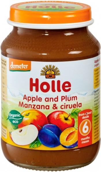 Holle Био пюре ябълка и сливи 6м. 190 г - с био сертификат Demeter