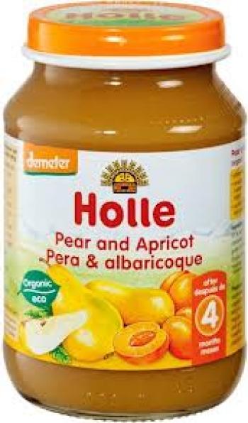 Holle - Био пюре от круши и кайсии 4+, 190 гр.