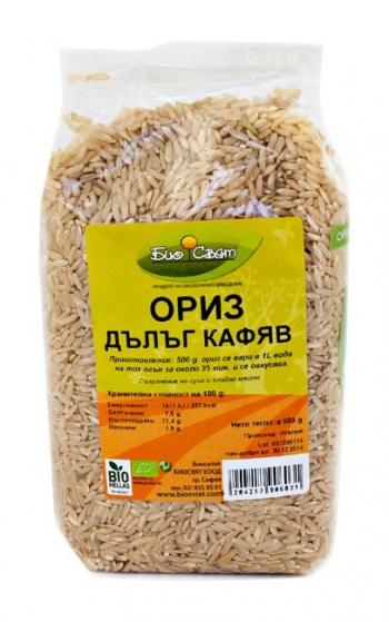 Био кафяв ориз, дълъг - 0.500 гр.