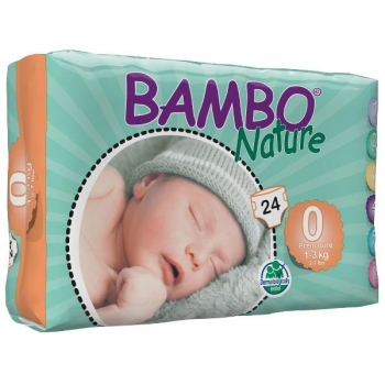 Био еднократни пелени Bambo Nature Premature,размер 0