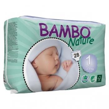 Био еднократни пелени Bambo Nature Newborn,размер 1, /2-4/кг.