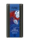 Био фин млечен шоколад, какао 37% Vivani