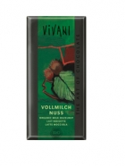 Био млечен шоколад с лешници Vivani