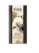 Био бял хрупкав шоколад Vivani