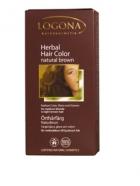 Био прахообразна боя за коса естествено кафяво Logona
