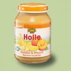 """Био пюре с банани и праскови, """"Holle"""""""