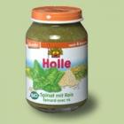 """Био пюре спанак с ориз """"Holle"""""""