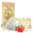 Био бял шоколад с йогурт и ягоди