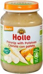 Holle Био пюре пащърнак с картофи 4м. 190 г - серт. Demeter