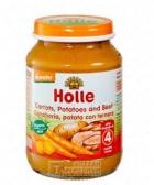 "Пюре морков,картофи и говеждо месо""Holle""4м."