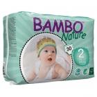Бебешки еко пелени за еднократна употреба Bambo Nature Mini,размер 2,3-6кг. 30бр.