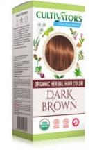 Билкова боя за коса-тъмнокафяво
